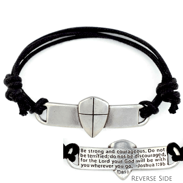 45248a7b6102d Genuine Leather Men's Christian Bracelets | Made in the USA ...