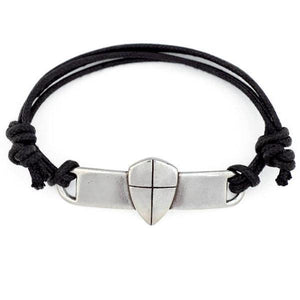 Fine Pewter Shield of Faith Bracelet | Joshua 1:9