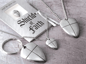 Fine Pewter Shield of Faith Collection Made in the USA
