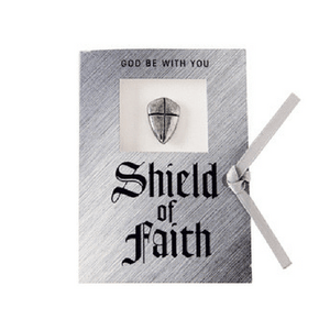 Shield of Faith Lapel Pin | Joshua 1:9