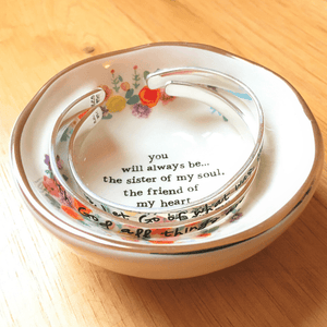 Natural Life Sister of My Soul Ring Dish | Jewelry Trinket Bowl