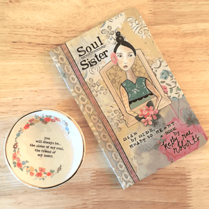 Natural Life Sister of My Soul Ring Dish | Jewelry Trinket Bowl & Kelly Rae Robert's Soul Sister Gift Book