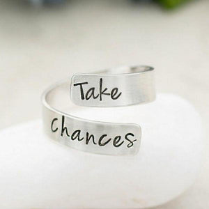 Personalized Sterling Silver Wrap Ring