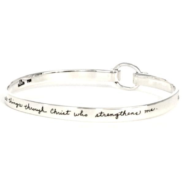BB Becker Sterling Silver Philippians 4:13 Bracelet | I Can Do All Things Through Christ