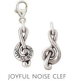 Sterling Silver Charm | Joyful Noise Charm | Coordinates with our Sterling Silver Charm Bracelets