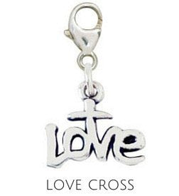 Sterling Silver Charm | Love Cross Charm | Coordinates with our Sterling Silver Charm Bracelets