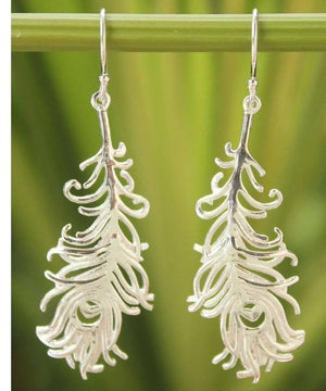 Handcrafted Sterling Silver Earrings | Angel Feathers