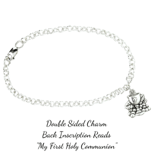 Sterling Silver First Holy Communion Bracelet