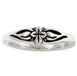 Sterling Silver Ladies' Christian Ring | Flowering Cross