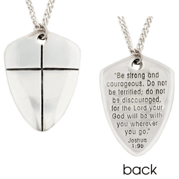 Glass Bubble Pendant Necklace Be Strong And Courageous The Lord Your God Is With You Wherever You Go-Large Oval