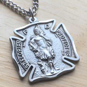 Sterling Silver St. Florian Patron Saint of Firefighters Medal | Engravable