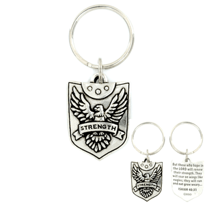 Strength Shield Isaiah 40:31 Keychain