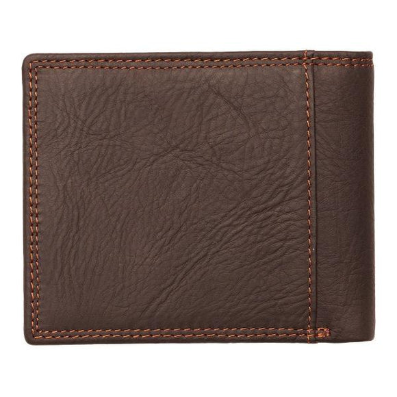 Genuine Leather Men's Wallet | Strong & Courageous | Joshua 1:9