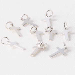 Sterling Silver Tiny Cross Charms