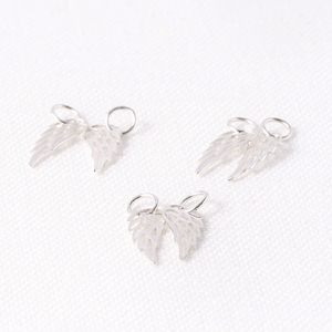 Sterling Silver Tiny Angel Wing Charms