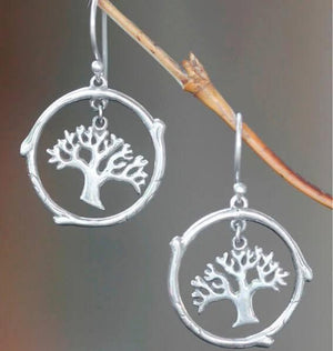 Handcrafted Sterling Silver Earrings | Tree of Life