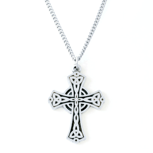 Fine Pewter Holy Trinity Triquetra Cross Necklace