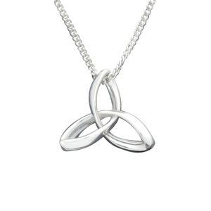 Sterling Silver Holy Trinity Triquetra Necklace