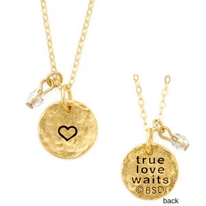 Fine Pewter True Love Waits Necklace
