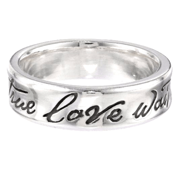 Sterling Silver Purity Ring True Love Waits Concave