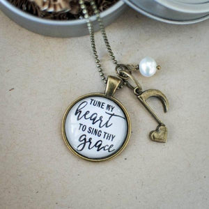 Christian Hymn Necklace | Tune My Heart To Sing Thy Grace