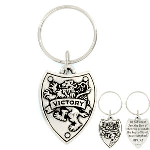 Victory Shield Revelation 5:5 Keychain