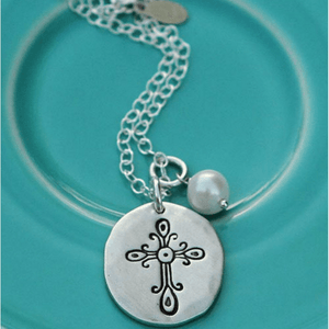 Fine Pewter Vintage Faith Necklace | The Vintage Pearl