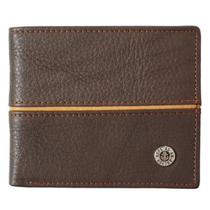 Genuine Leather Men's Wallet | Hope as an Anchor | Two Tone Stripe