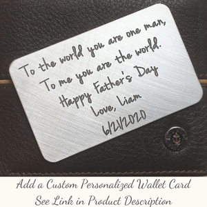 Optional Custom Personalized Engraved Wallet Card