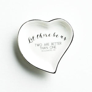 Ceramic Ring Dish | Let There Be Us | Two Are Better Than One