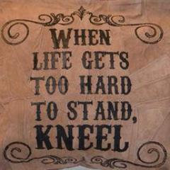 When Life Gets Too Hard To Stand, Kneel Suede Tote Bag