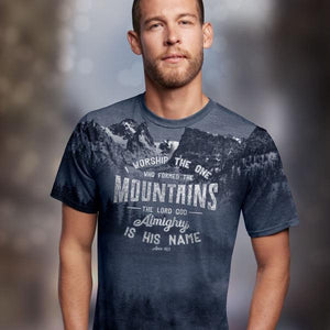 Kerusso Christian T-Shirt | Who Made the Mountains | All Over Print