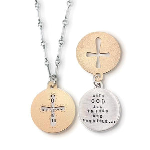 With God All Things Are Possible Kathy Bransfield Sterling Silver Necklace | Matthew 19:26