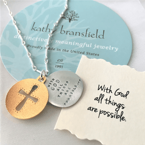 With God All Things Are Possible Sterling Silver Necklace | Matthew 19:26 | Kathy Bransfield