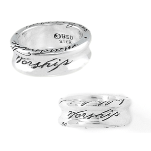 Sterling Silver Ladies' Words of Worship Ring