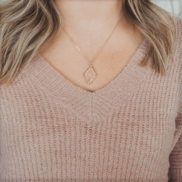 Woven with Light Pendant Necklace | Revival Collection