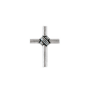 Fine Pewter Christian Lapel Pin | Wrapped Cross
