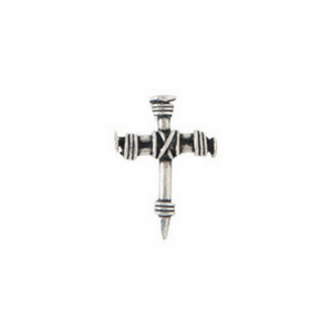 Fine Pewter Christian Lapel Pin | Wrapped Cross of Nails