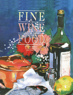 Front cover image for the cookbook Fine Wine in Food