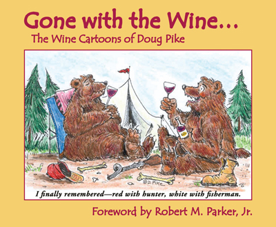 Front cover image for the book Gone with the Wine The Wine Cartoons of Doug Pike