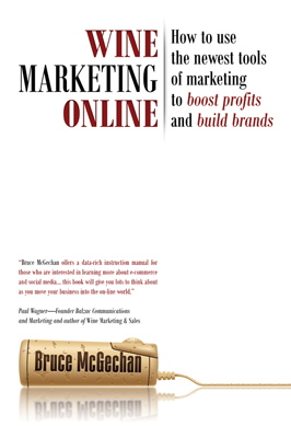 Front cover image for the book Wine Marketing Online by Bruce McGechan