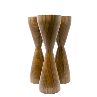Black Walnut Candlesticks (Set of 3)