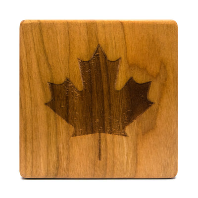 Wood Proper - True North - Cherry Wood Coasters (Set of 4)