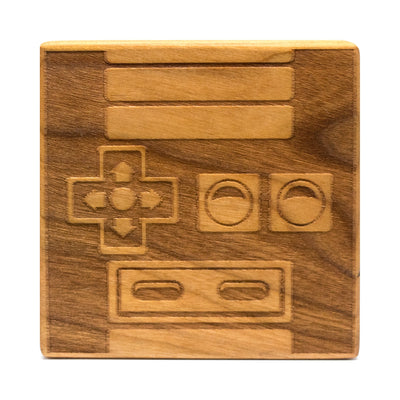 Player One - Wood Coasters (Set of 4)