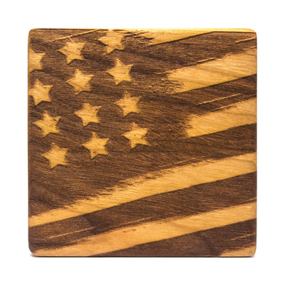 Land of the Free - Cherry Wood Coasters (Set of 4)