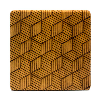 Accademia - Cherry Wood Coasters (Set of 4)