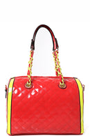 Quilted Bag in Color Block-Fabulous Bargains Galore