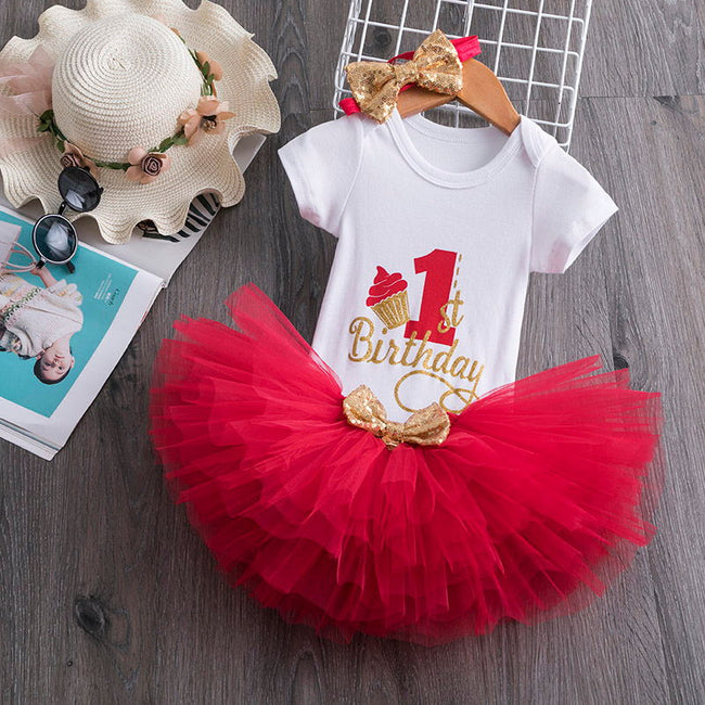 1 year old birthday outfit girl red-Fabulous Bargains Galore