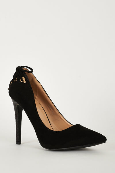 High Heel Lace Detailed Court Shoes