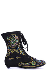 Embellished Black Ankle Boots